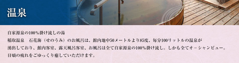 伊豆稲取温泉 石花海の温泉